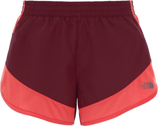 The North Face W's Altertude Hybrid Shorts Deep Garnet Röd/Cayenne Röd